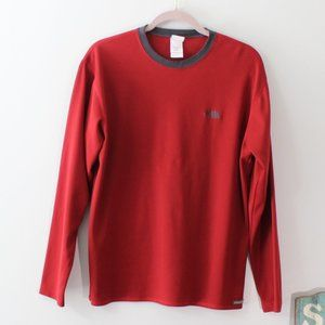 The North Face Vaporwick Red Grey LS Tee M